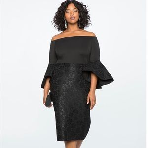 Eloquii Lace Off the Shoulder Dress.